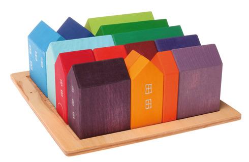 Domki ręcznie malowane