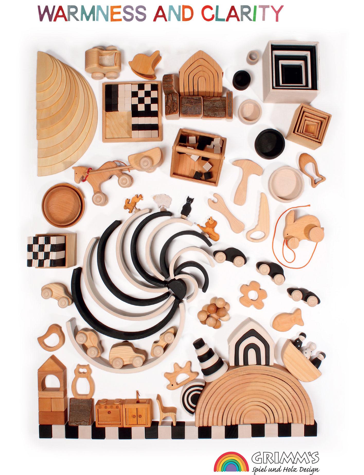 drewniane zabawki grimms naturalne