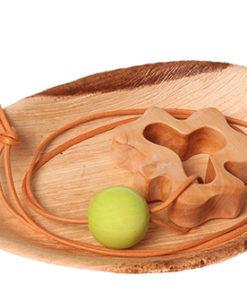 drewniany gryzak koniczyna