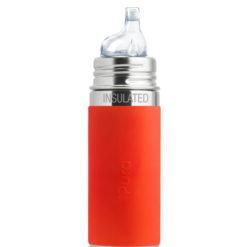 Termobutelka Pura Kiki z ustnikiem niekapkiem i pomarańczową osłonką 260 ml