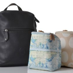Plecak dla mamy PacaPod Hartland z czarnej ekoskóry
