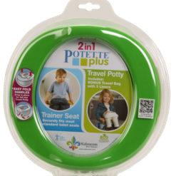 Potette Plus 2w1 nocnik turystyczny i nakładka na WC zielony OUTLET