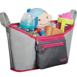 Organizer do wózka BabyOno szaro-różowy