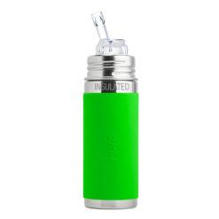 Termobutelka Pura Kiki ze słomką i zieloną osłonką 260 ml