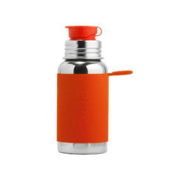 Termobutelka Pura Kiki Sport z pomarańczową osłonką 475 ml