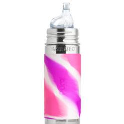 Termobutelka Pura Kiki z ustnikiem niekapkiem różowa swirl 260 ml