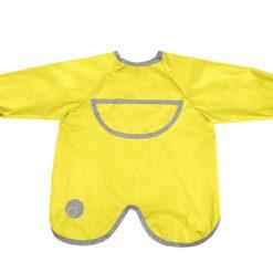 Wodoodporny fartuszek-śliniaczek z rękawami lemon sherbert