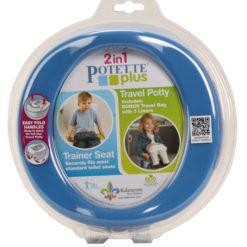 Potette Plus 2w1 nocnik turystyczny i nakładka na WC niebieski OUTLET