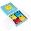 4 pary skarpetek dla niemowląt kotki Rex London