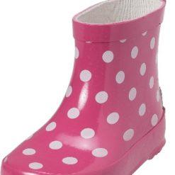 Kalosze różowe w kropki krótkie Playshoes