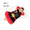 Zestaw Śpiworek PenguinBag Rycerz 3-5 lata+ buciki czerwone M