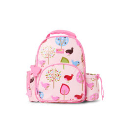 Mały plecak różowy w ptaszki Penny Scallan