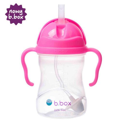 *NOWY* innowacyjny bidon ze słomką b.box różowy granat - różowy granat