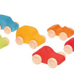 6 kolorowych samochodzików