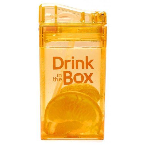 Bidon ze słomką Drink In The Box pomarańczowy