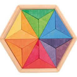 Drewniane puzzle do układania gwiazdy 3+ Grimm's