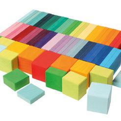Geometryczne kolorowe klocki 74-el.