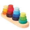 Kolorowe cztery mini wieże z okręgami 1+