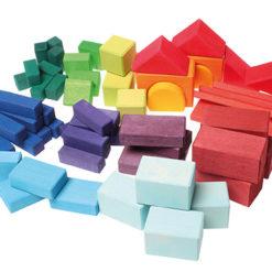 Kolorowe klocki geometryczne 60-el. 1+ Grimm's