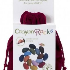 Kredki Crayon Rocks w aksamitnym woreczku - 16 kolorów