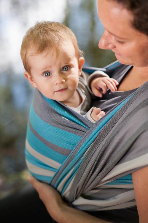 Mglisty Poranek - Chusta do noszenia dzieci tkana M
