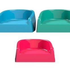 Miękkie siedzisko dla dziecka booster jagodowo niebieskie