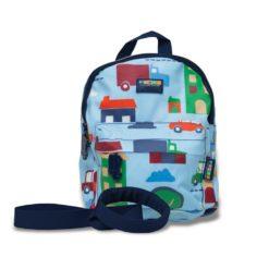 NOWY Plecak ze smyczą - niebieski w autka Penny Scallan