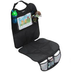 Ochronna mata do samochodu z miejscem na tablet do fotelików tyłem i przodem do kierunku jazdy