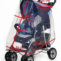 Osłona folia przeciwdeszczowa XL na wózek