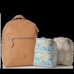 Plecak dla mamy Hartland ze skóry ekologicznej