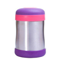 Pojemnik termiczny termos na żywność Babyfood fioletowo-różowy