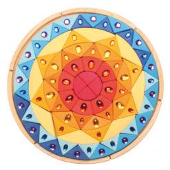 Słoneczna błyszcząca mandala 3+