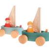 Zestaw 4 małych jachtów