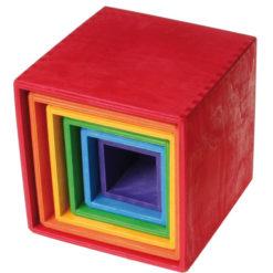 Zestaw pudełek w intensywnych kolorach