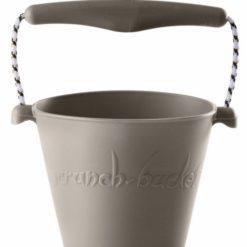 Zwijane wiaderko silikonowe Scrunch-bucket jasno szare