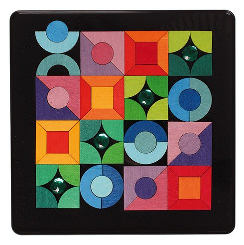 układanka magnetyczna kształty geometryczne i klejnoty Grimm's