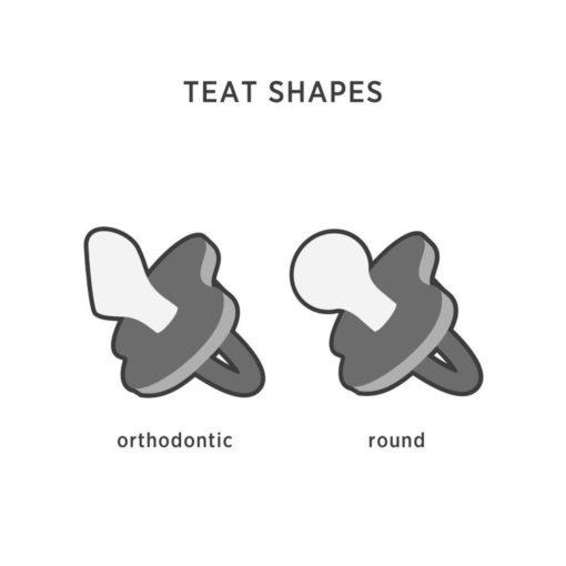 Anatomiczny smoczek kauczukowy