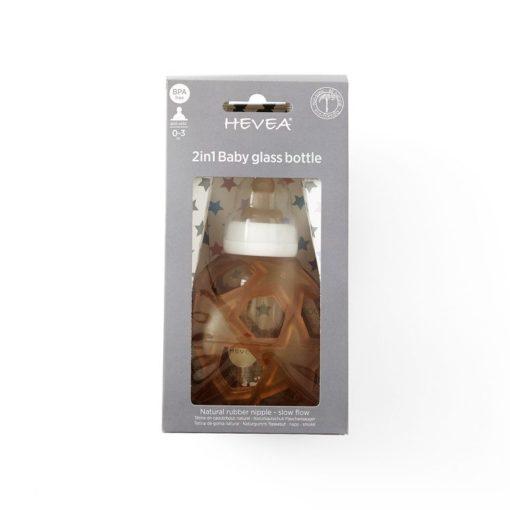 Butelka szklana z kauczukową osłonką w kształcie gwiazdek